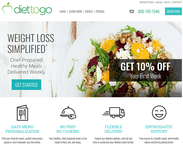Diet to Go Home Page