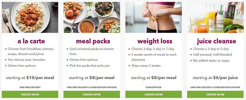 veestro meal plans