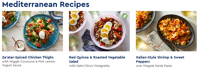 Blue Apron Mediterranean Recipes