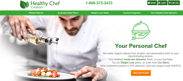 Healthy Chef Creations Home Page