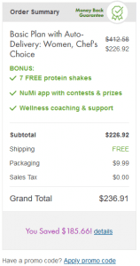 How to Apply your Nutrisystem Coupon